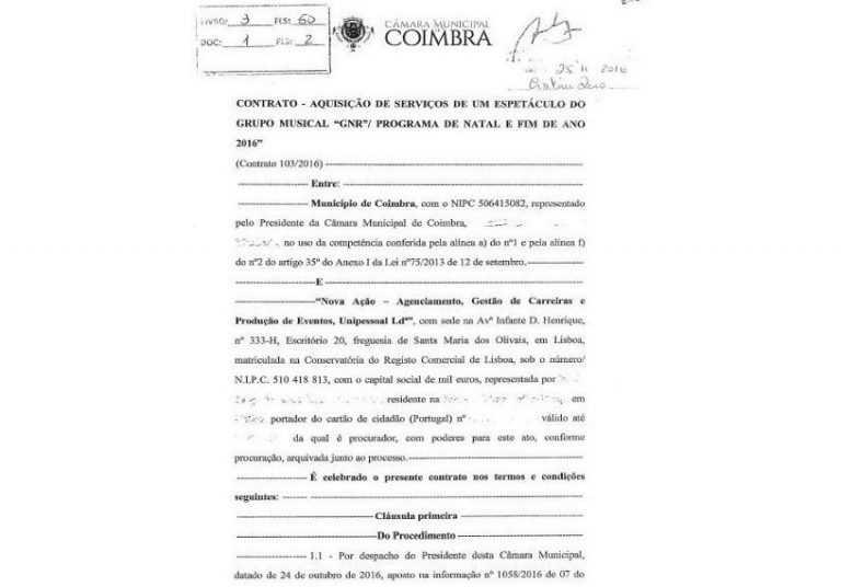 """Jornal Campeão: Coimbra: GNR ou um """"gordo negócio de Reininho"""""""