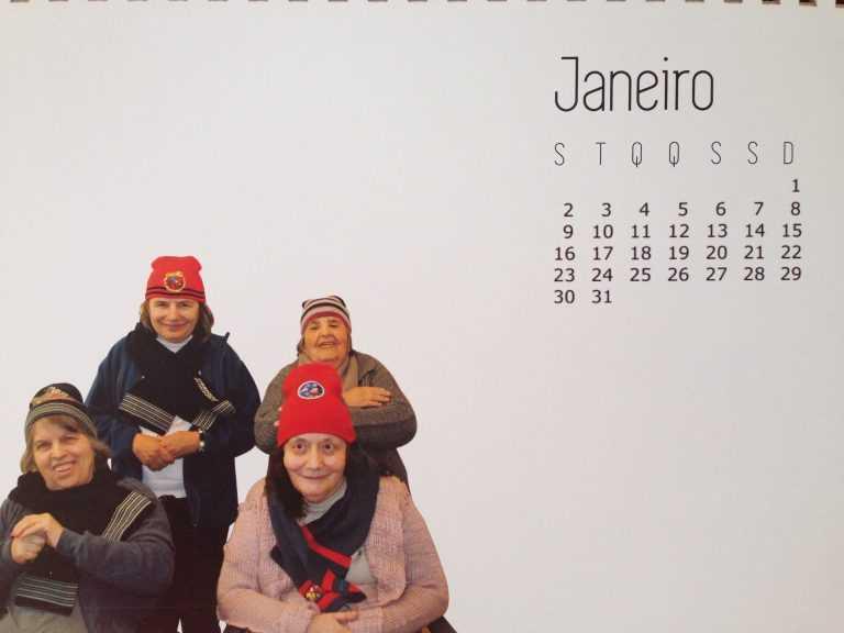 Jornal Campeão: Idosos da ADFP são protagonistas de calendário criativo