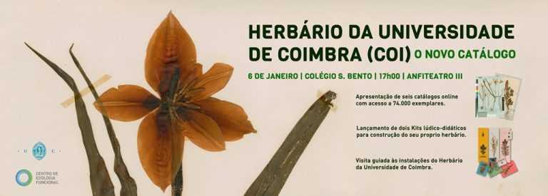 Jornal Campeão: Herbário da Universidade de Coimbra lança catálogo online