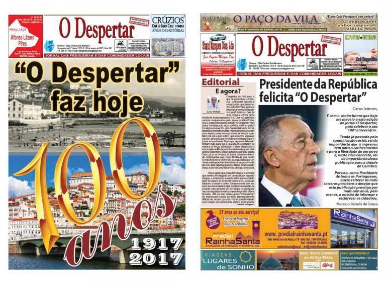 """Jornal Campeão: """"O Despertar"""" celebra hoje 100 anos"""