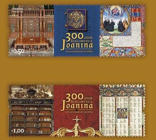 Jornal Campeão: Selos dos CTT celebram 300 anos da Biblioteca Joanina