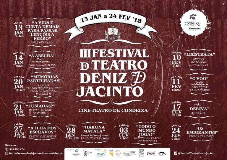 Jornal Campeão: Condeixa: Festival Deniz-Jacinto está de volta com 11 espectáculos