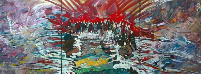 Jornal Campeão: Coimbra: Victor Costa exprime na pintura o drama dos refugiados