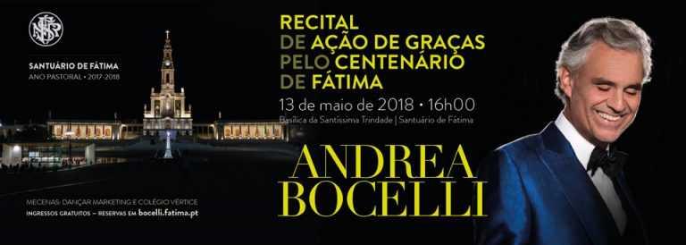 Jornal Campeão: Tenor italiano Andrea Bocelli em Fátima a 13 de Maio
