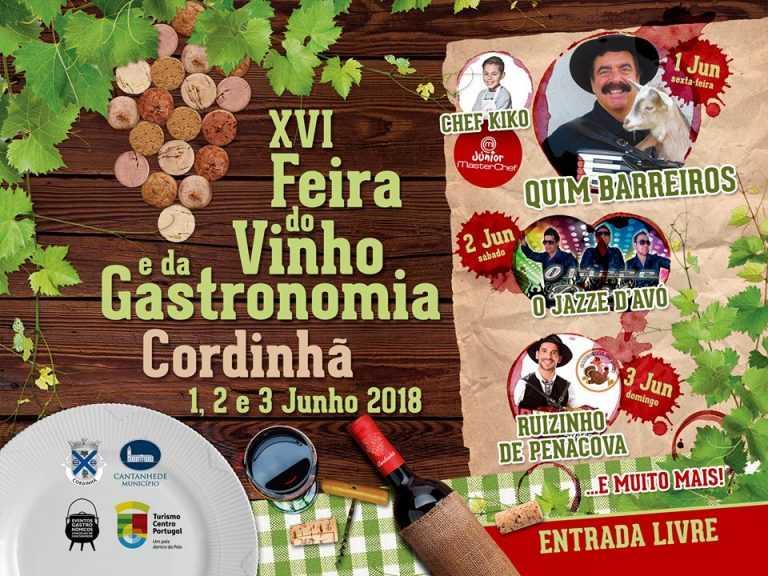 Jornal Campeão: Cordinhã celebra vinho e gastronomia ao som de Quim Barreiros