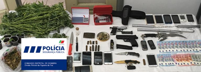 Jornal Campeão: Figueira da Foz: Seis detidos por tráfico de droga e armas proibidas