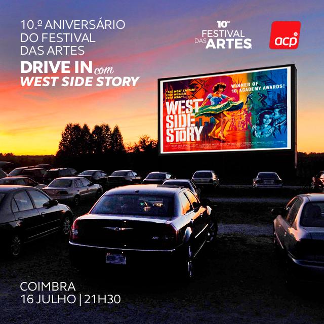 """Jornal Campeão: Festival das Artes começa a semana com """"West Side Story"""" em drive-in"""