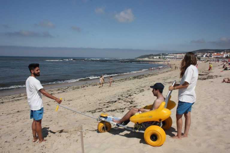 Jornal Campeão: Praia de Buarcos mais acessível para portadores de deficiência