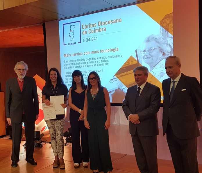 Jornal Campeão: Cáritas de Coimbra recebe menção honrosa do Prémio BPI Seniores