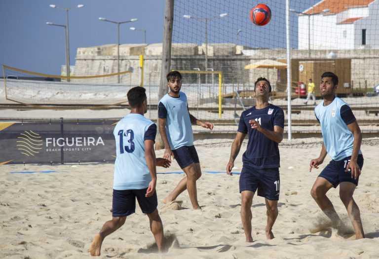 Jornal Campeão: Futebol de praia: Selecção iraniana treina em Buarcos