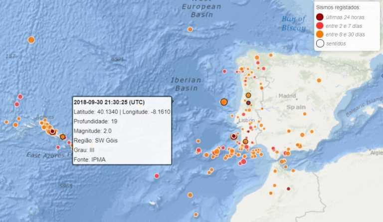 Jornal Campeão: Sismo de 2,0 na escala de Richter sentido perto de Góis
