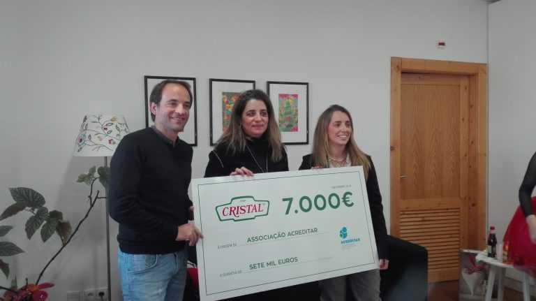 Jornal Campeão: Casa Acreditar recebe 7 000 euros da empresa Cristal