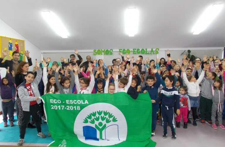 Jornal Campeão: Cantanhede: Hasteada Bandeira Verde Eco-Escolas em Febres