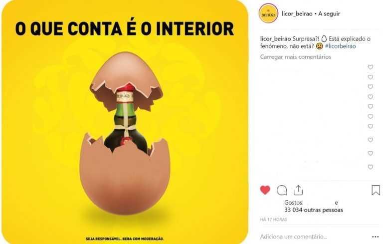 Jornal Campeão: Campanha do Licor Beirão bate recorde no Instagram