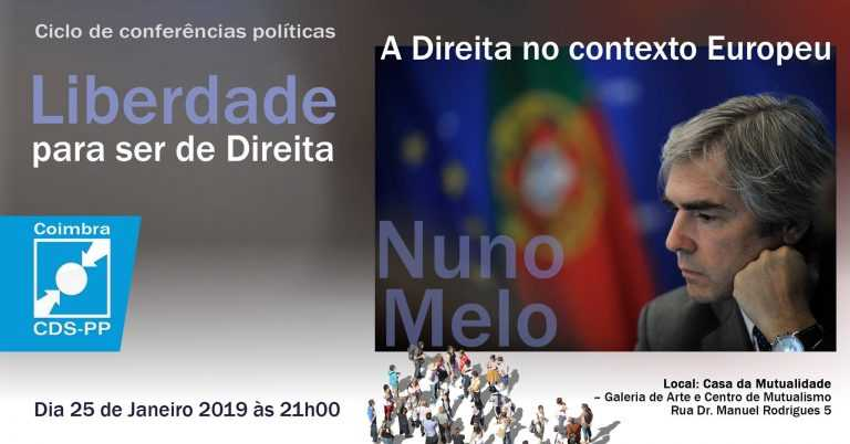 """Jornal Campeão: Coimbra: Nuno Melo fala da """"Direita no contexto europeu"""""""