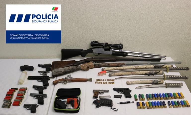 Jornal Campeão: Agente da PSP aposentado detido por posse de armas proibidas