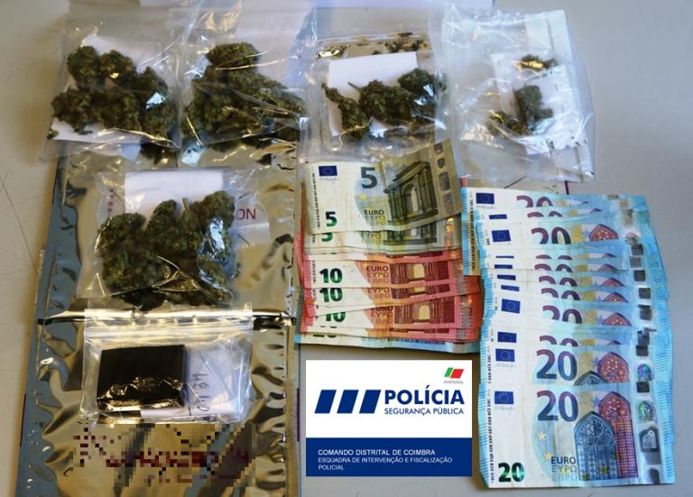 Jornal Campeão: Jovem detido em Coimbra com mais de 110 doses de droga