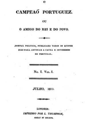 22 - João Pinho N.º 1 Campeão Portuguez, Julho, 1819