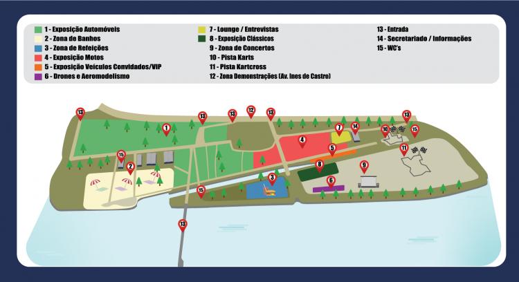mapa motor show coimbra 2019