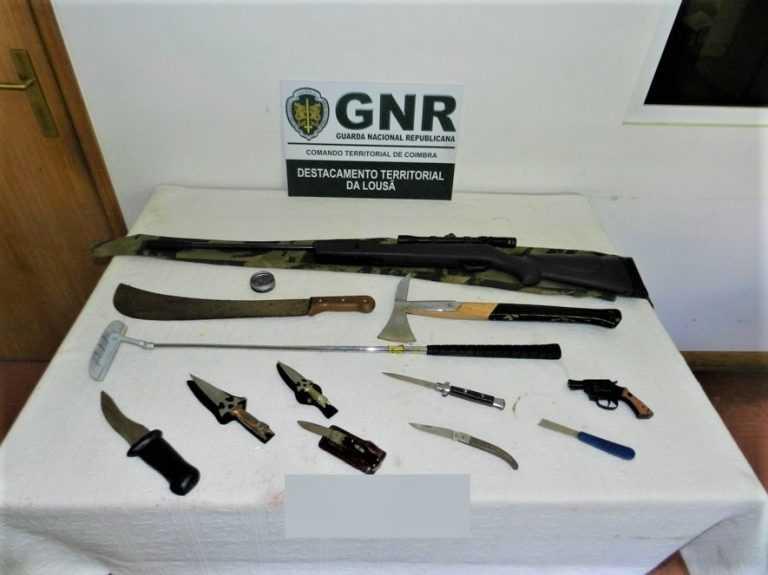 Jornal Campeão: GNR da Lousã apreende 10 armas pelo crime de ameaças