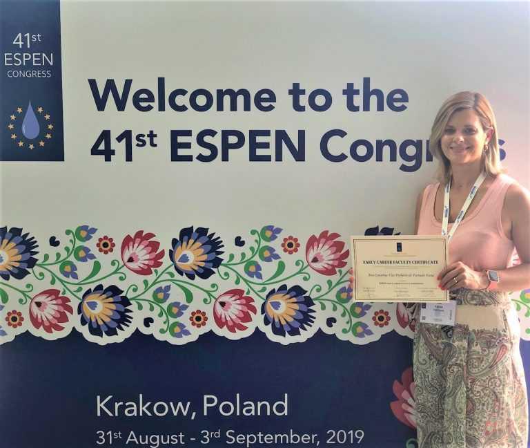 Jornal Campeão: Docente da ESTeSC premiada por associação internacional de nutrição