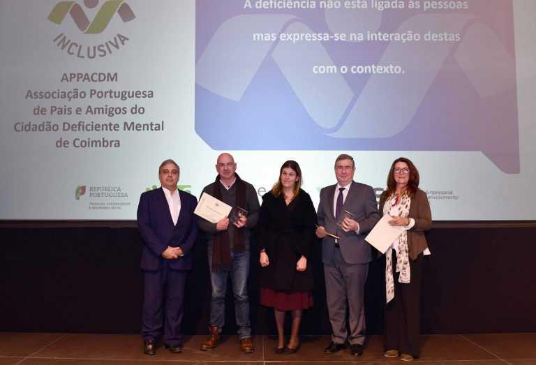 Resultado de imagem para APPACDM de Coimbra distinguida com Marca Entidade Empregadora Inclusiva