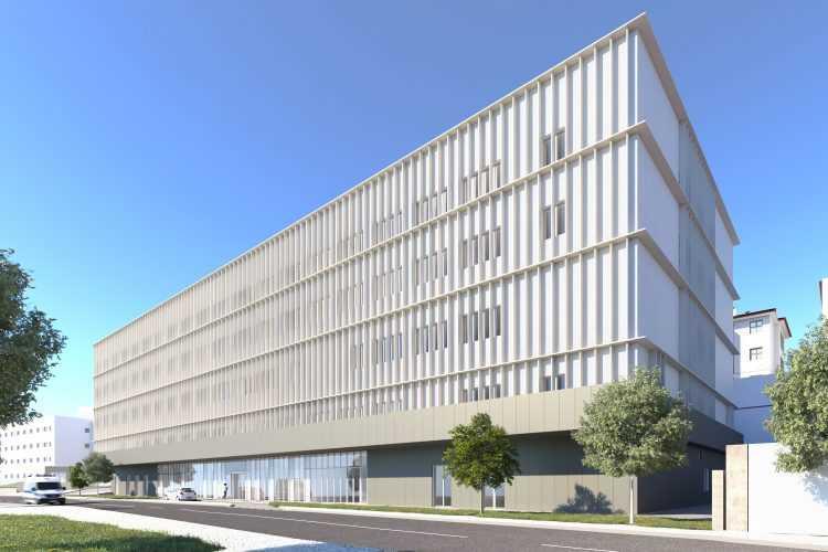 Maquete da requalificação do edifício da Cirurgia e Imagiologia
