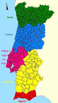 Regiões Portugal