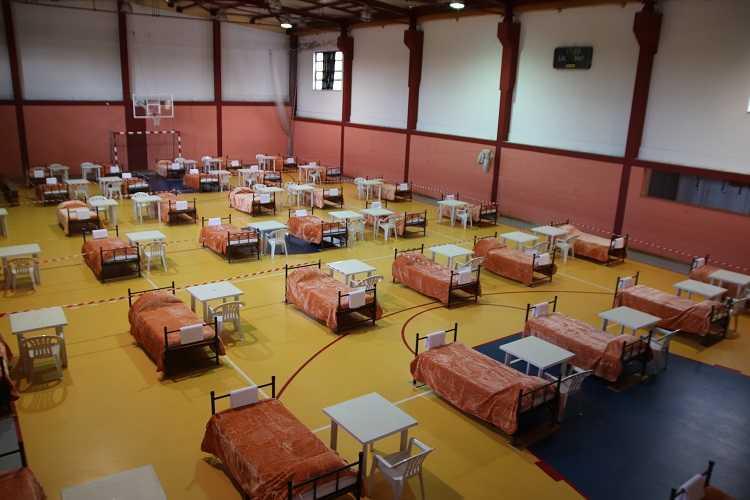Jornal Campeão: Arganil instala hospital de campanha em pavilhão da Escola EB 2,3