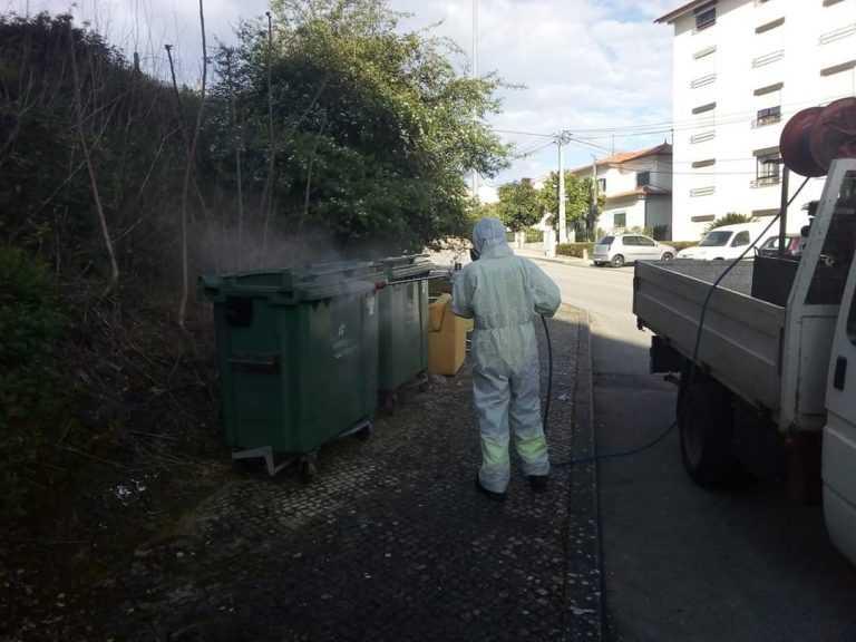 Jornal Campeão: Condeixa-a-Nova desinfecta contentores de resíduos sólidos urbanos