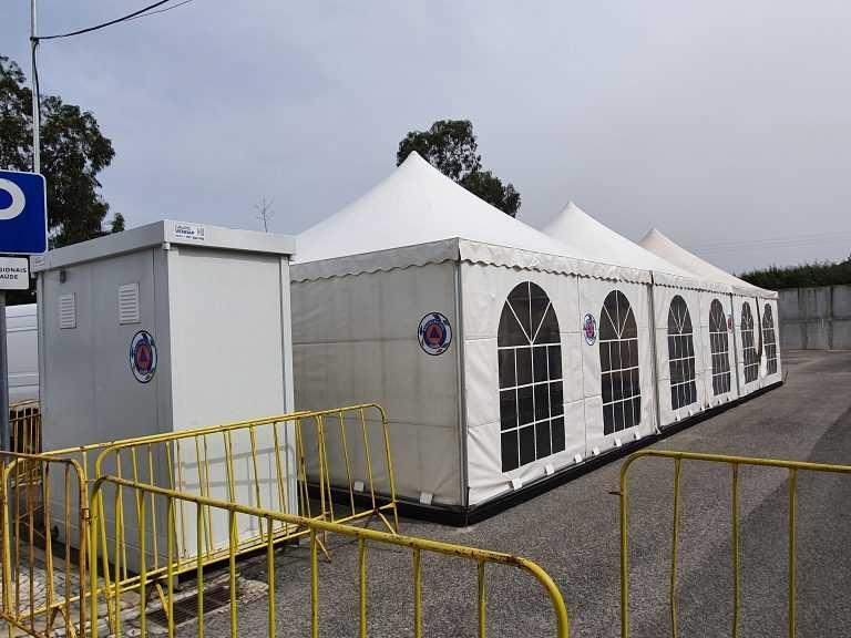 Jornal Campeão: Tendas de apoio instaladas no Centro de Saúde da Lousã