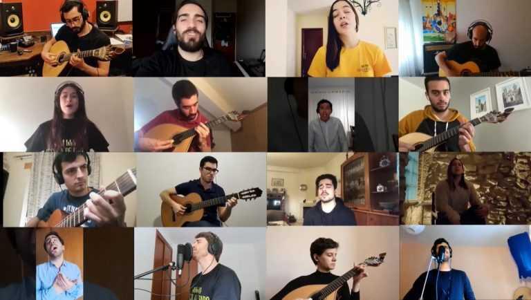 Jornal Campeão: Alunos e seguidores da Escola de Fado de Coimbra interpretaram serenata