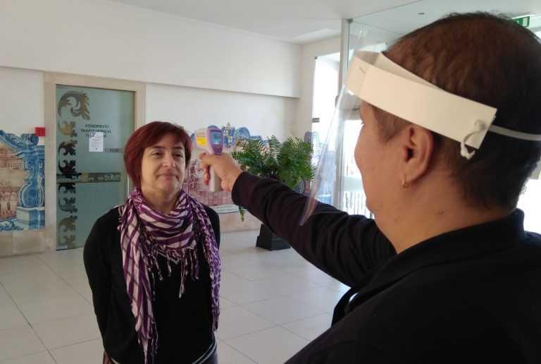 Jornal Campeão: Município de Cantanhede controla temperatura corporal de funcionários e visitantes