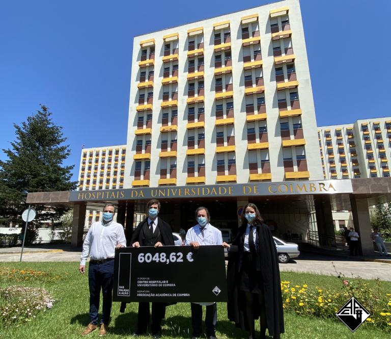 Jornal Campeão: AAC angariou 6 000 euros para apoiar o Centro Hospitalar e Universitário de Coimbra