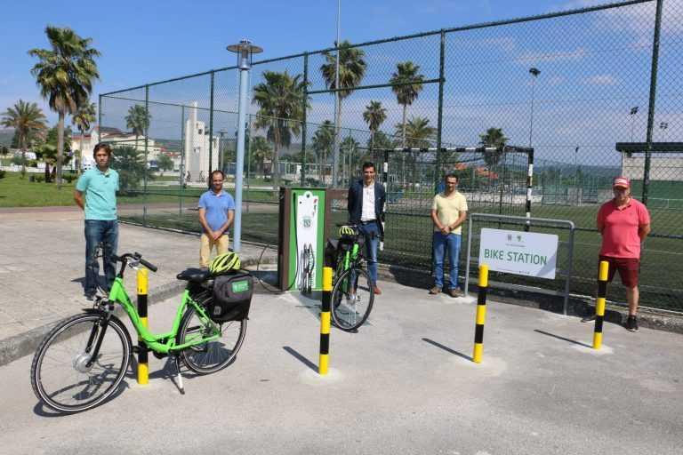 Jornal Campeão: Poiares inaugurou a sua primeira estação de bicicletas