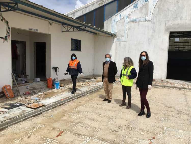 Obras reabilitação Mercado Cantanhede