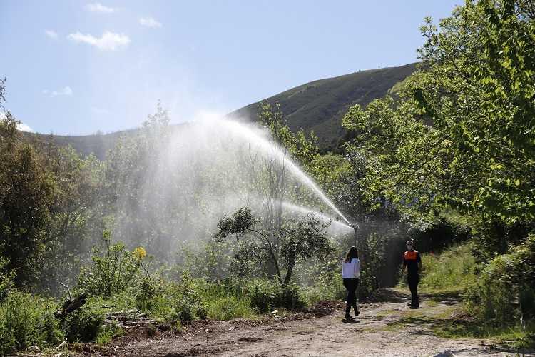 Jornal Campeão: Aldeia de Arganil testa um sistema de protecção com água, desenvolvido pela UC