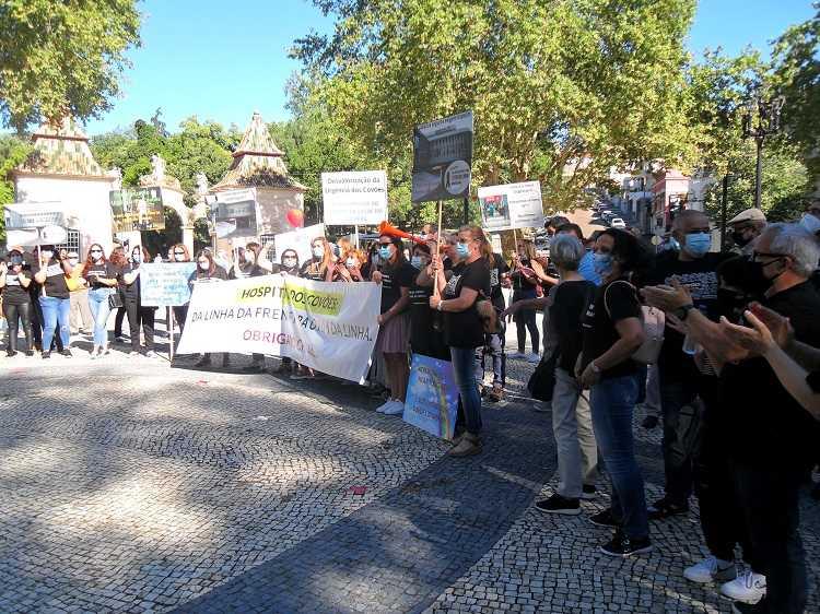 Jornal Campeão: Coimbra: Mais de 300 pessoas na Praça da República em defesa do Hospital dos Covões