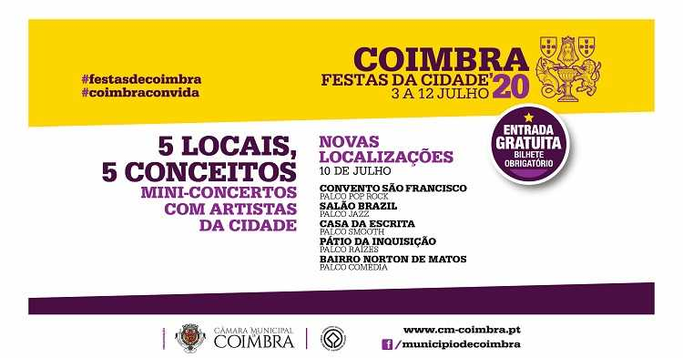 Jornal Campeão: Mini-concertos das Festas da Cidade de Coimbra com novas localizações