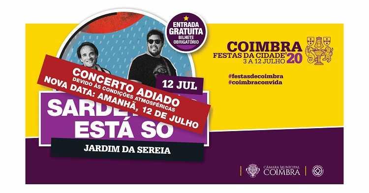 Jornal Campeão: Adiado concerto de hoje das Festas da Cidade de Coimbra