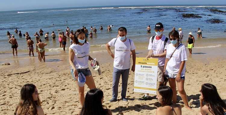 Jornal Campeão: Covid-19: Médicos na praia sensibilizam para a prevenção
