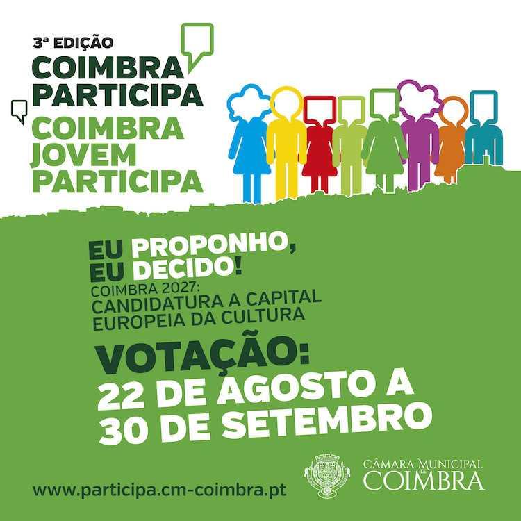Jornal Campeão: Orçamento Participativo da Câmara de Coimbra disputado por 17 projectos