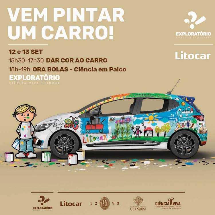 Jornal Campeão: Exploratório desafia a pintar um automóvel no fim-de-semana
