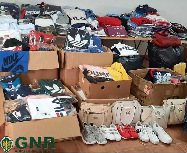 Jornal Campeão: GNR apreende 759 artigos contrafeitos e identifica três pessoas
