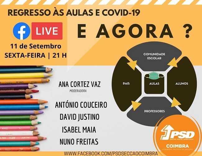 Jornal Campeão: PSD de Coimbra debate regresso às aulas e covid-19 com David Justino