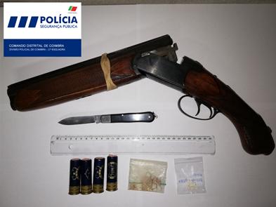 Jornal Campeão: PSP de Coimbra detém homem por posse de arma proibida e tráfico de droga