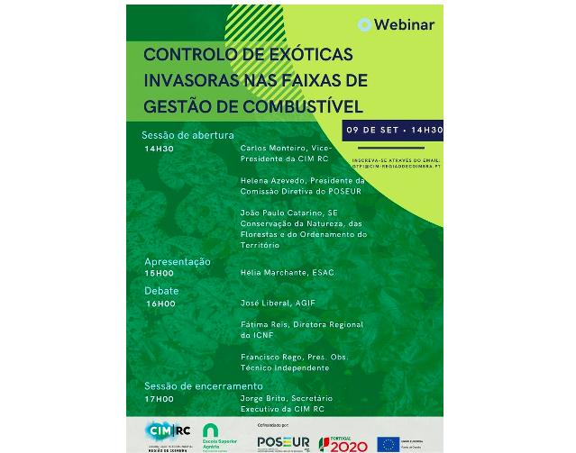 Jornal Campeão: CIM da Região de Coimbra promove 'webinar' sobre o controlo de exóticas invasoras