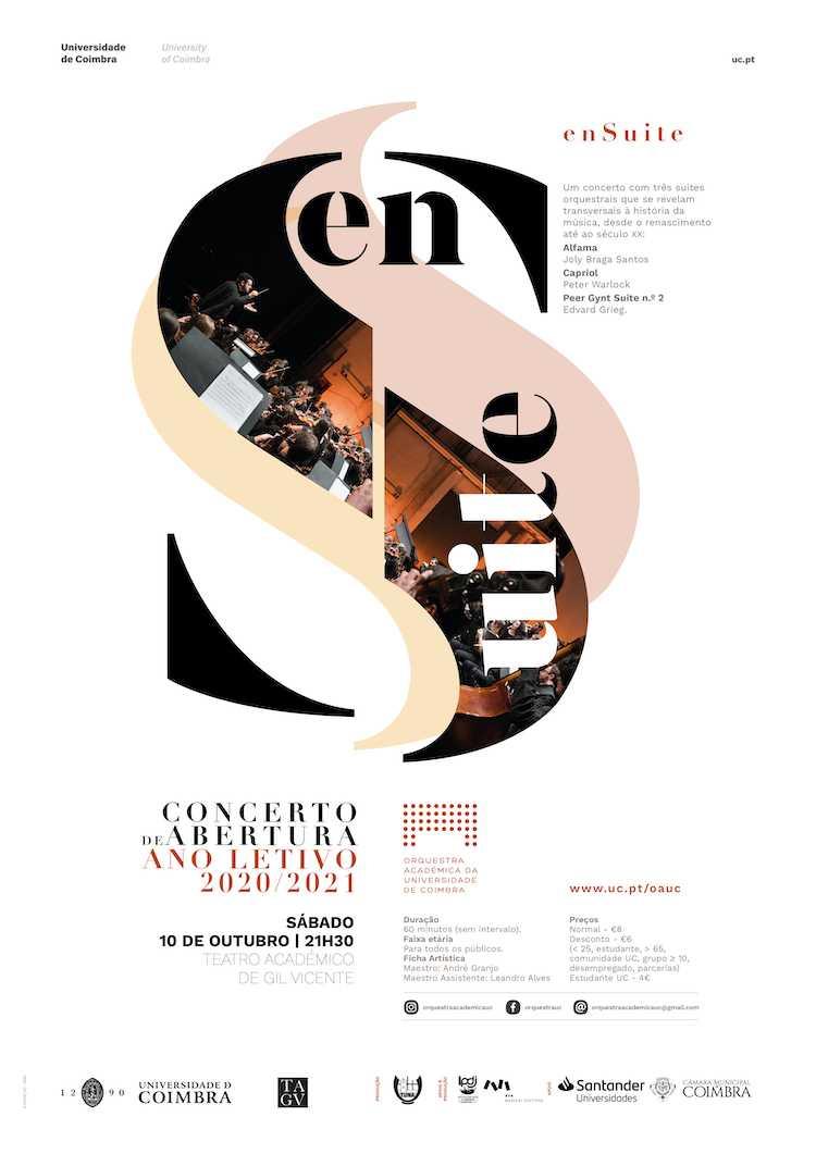 """Jornal Campeão: Orquestra Académica da UC realiza concerto """"enSuite"""" no próximo sábado"""