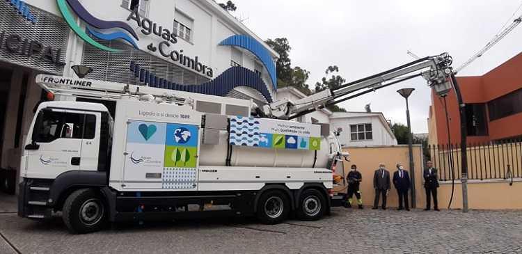 Jornal Campeão: Águas de Coimbra investe em Centro de Comando e Controlo e em nova viatura