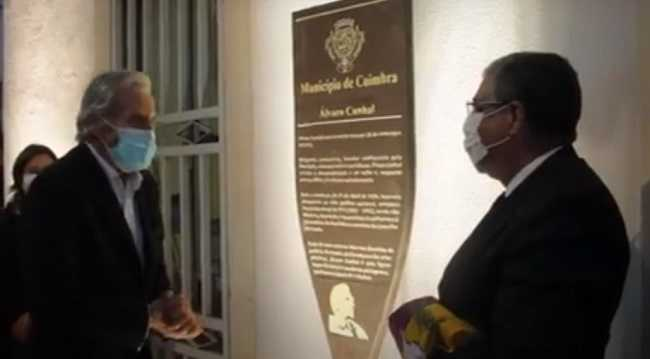 Jornal Campeão: Descerrada placa que assinala a casa onde Álvaro Cunhal nasceu em Coimbra